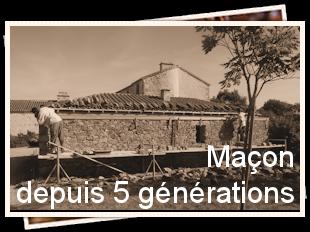 Entreprise de maçonnerie depuis 5 générations, Chavagnes en Paillers